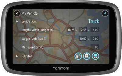 """TomTom Navigatore Satellitare truck Camion 5"""" Touch Mappe incluse TRUCKER 5000"""
