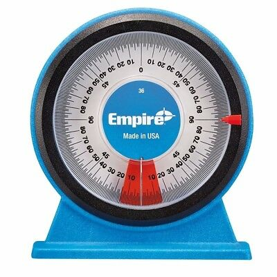 Empire POLYCAST MAGNETIC PROTRACTOR Magnetic Base &Back,Easy Read Dial*USA Made