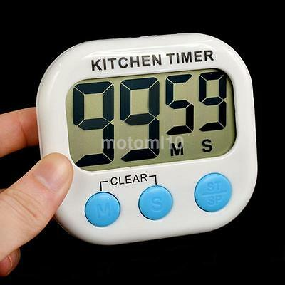 Big Screen LCD Digital Cooking Kitchen Timer Count-Down/Up Clock Loud Alarm NEW