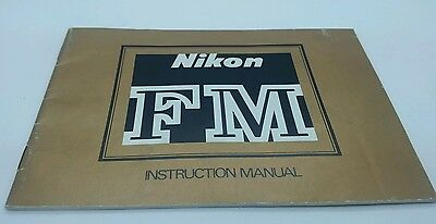 "Nikon  "" FM "" film camera Instruction Manual 36p."