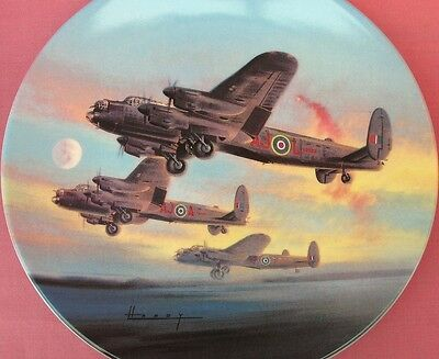 Royal Worcester The Take-Off Lancaster Bomber Raf Plane Plate Dambusters W Hardy