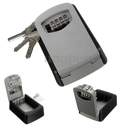 Outdoor Wall Mount Key Box With Combination Lock Safe Store Keys High Security