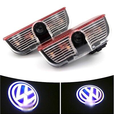 2x LED Car Door Welcome Laser LOGO Projector Courtesy Ghost Shadow Light For VW