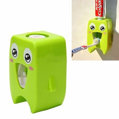 Cartoon  Plastic Wall-mounted Adhesive Automatic Toothpaste Dispenser Squeezer