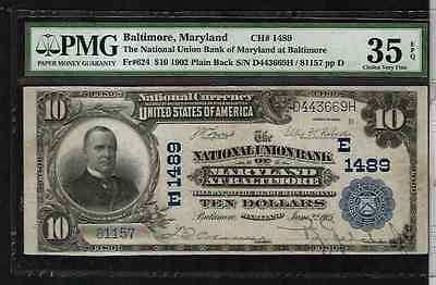 1902 $10 Baltimore Maryland  Note #MA-BN-170