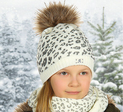SALE Kids Girls baby Hat with TUBE Scarf  WINTER SET size 10-15 years M247 NEW!