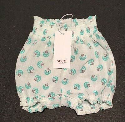 NEW Seed Heritage Baby Girl Shorts Bloomers Size 000 Or Age 0-3 months RRP$29.95
