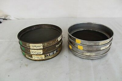 Job Lot of Six Laboratory Sieves all are 21cm in diameter