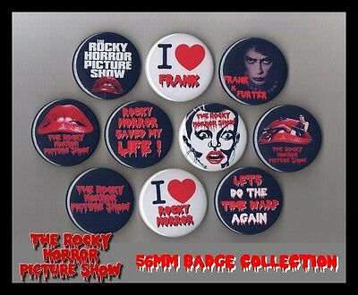 The Rocky Horror Picture Show 56mm Badge Collection Retro Fancy Dress - FREEPOST