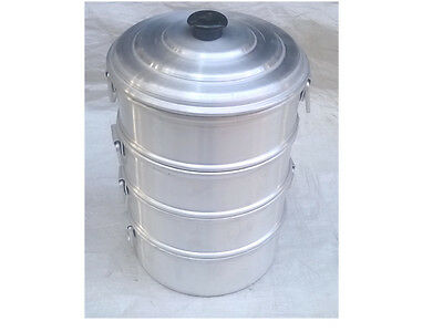Heart Patients Oil Free Aluminum Steamer 3 Strainer/tamale Steamer Low Price