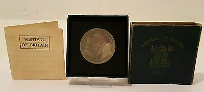 1951 festival of britain coin George The IV With Box And Certificate