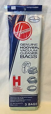 NEW Genuine Hoover Vacuum Cleaner Bags Type H 3 Bags Celebrity Cleaners