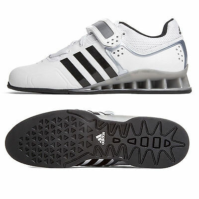 Adidas AdiPower Weightlifting Shoes - White Silver Deadlift Squats Strongman
