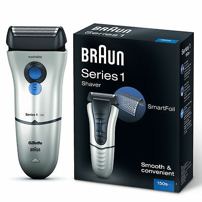 Braun Series 1 150s-1 Electric Rechargeable Mens Precision Smart Foil Shaver