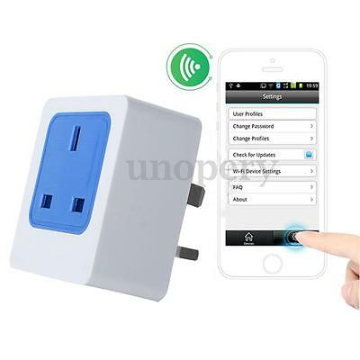 Smart WiFi Wireless Mobile Phone Remote Control UK Plug Home Power Socket Switch