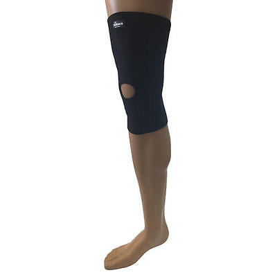 Solace Bracing Black Stomatex Tennis Badminton Support Pull On Knee Sleeve