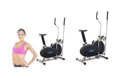 2 in1 Elliptical Cross Trainer Aerobic Exercise Bike Fitness Workout Gym Cardio