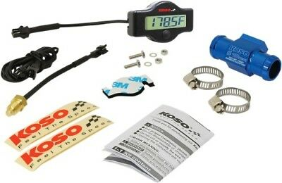 Koso North America EX-01 Water Temp Meter with Adapters 18mm Adapter BA049400-18
