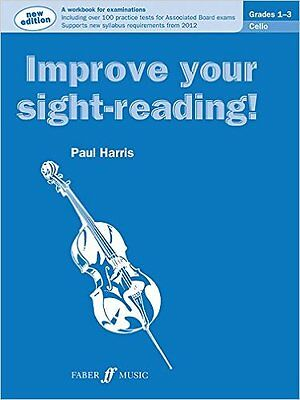 Improve Your Sight-Reading! Cello: Grades 1 - 3 by Paul Harris - BRAND-NEW