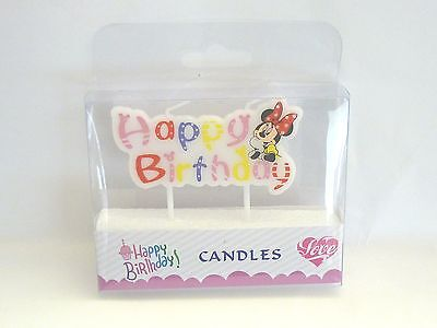 MINNIE MOUSE Novelty Birthday Cake Candle Candles Topper Figure