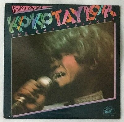 "Autographed Koko Taylor ""The Earth Shaker"" Vinyl"