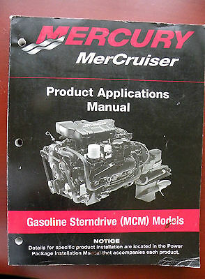 Mercury Mercruiser Product Applications Manual Gas Sterndrive Mcm Models New