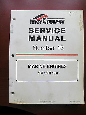 90-816462 Mercury Mercruiser Service Manual #13 Gm 4Cyl 1995 New
