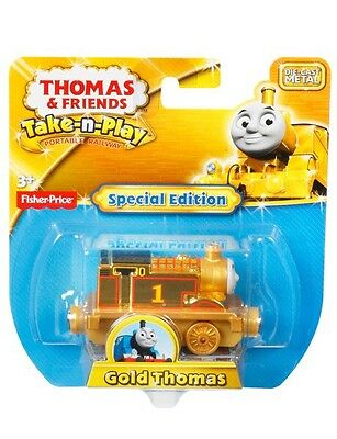Gold Thomas the Tank Engine Take n Play SPECIAL 70th ANNIVERSARY EDITION