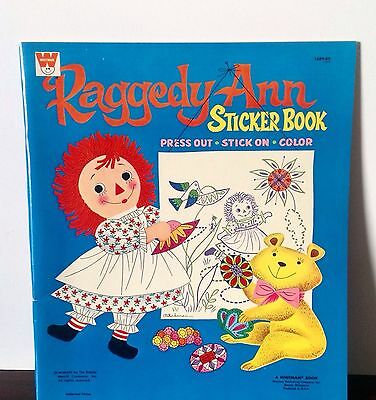 MINT 1967 Unused Raggedy Ann Sticker & Coloring Book Whitman #1689:69