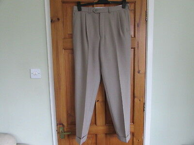 new M&S northern soul / 50s twin pleated turn up trousers W 34 X L 31