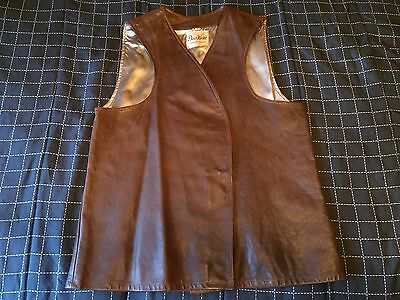 mens large medium vintage Deer Wear brown leather western frontier vest L