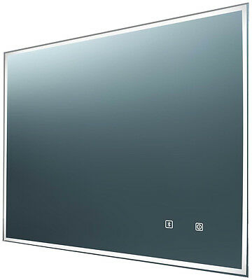 Audio Bluetooth speaker LED Rectangular Bathroom Mirror with Demister 800x600mm