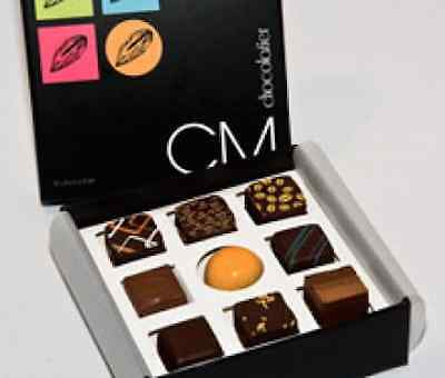 Thank You/congratulations Gift Box With Nine Christophe Morel Chocolates
