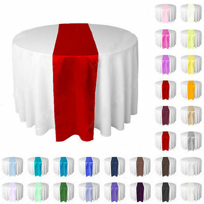 "5 Satin 12"" x 108"" Table Runners Wedding Decoration - 12 inch x 108 inch"