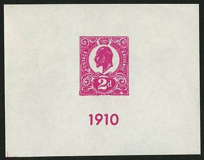 GREAT BRITAIN  MNH Inperf. Souvenir Sheet - See Picture