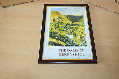"British Railways Vintage Framed Poster ""the Dales Of Derbyshire"""