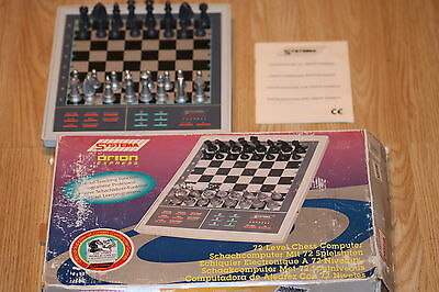 Vintage Systema Orion Express Electronic Chess Set 72 Levels Chess Computer