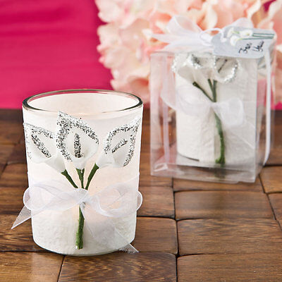 10 x Silver Calla Lily Design Votive Candle Holder Wedding Table Favour SF