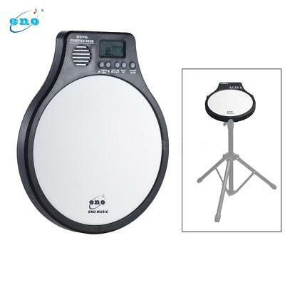 ENO Multifunction 3 in 1 Portable Electric Digital Practice Drum Pad White X3A3