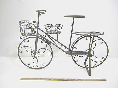 Big Bicycle Plant Flower Stand Metal Garden Yard Decor Art