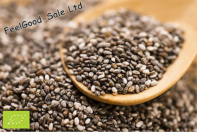 Organic Certified Raw Chia Seeds 1kg 2kg 500g FREE Delivery