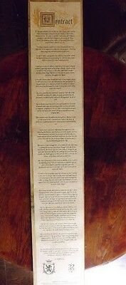Once Upon a Time / Rumplestiltskin's Contract with Cora with Bonus Pendant!
