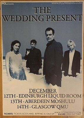 The Wedding Present - Rare Gig poster, Edinburgh/Aberdeen/Glasgow, Dec 2008!