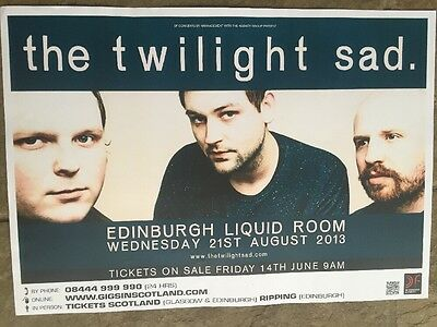 The Twilight Sad - gig poster, edinburgh, August 2013