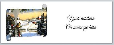 30 Personalized Address Labels Christmas Bird Buy 3 get 1 free (ac490)