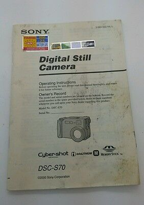 Sony Digital still camera DSC-S70 Operating Instructions Instruction Manual 68p.