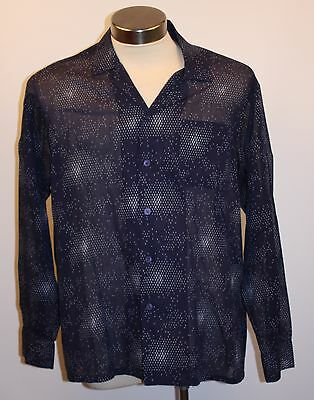 "X Large Mens Long Sleeve Vintage Shirt. ""country Club"" Polyester / Cotton ."