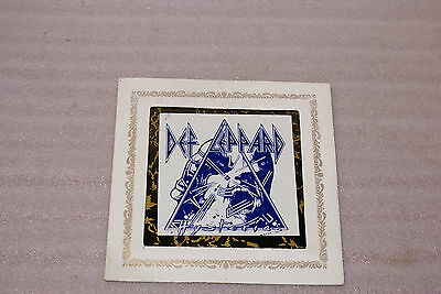 Vintage 1980s Def Leppard Carnival Mirror Picture Prize 6x6