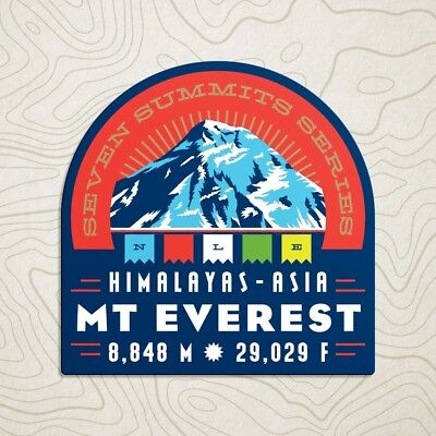 Mt. Everest Seven Summits Decal Sticker