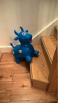 Happy Hopperz Bull  blue  Inflatable Jumping Space Hopper Toy